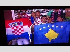 Kosovo Flag in Croatia vs Switzerland match! YouTube