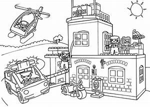 Lego Police Car Coloring Pages City Grig3org