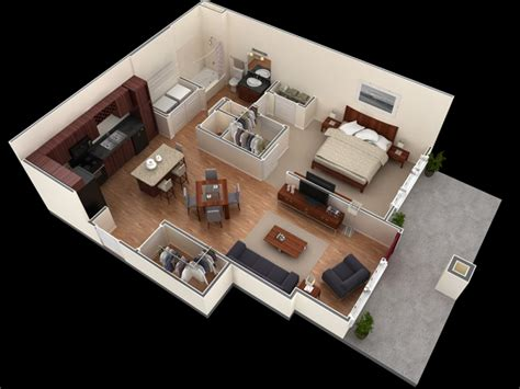 25 One Bedroom Houseapartment Plans by 25 One Bedroom House Apartment Plans Home Layout One