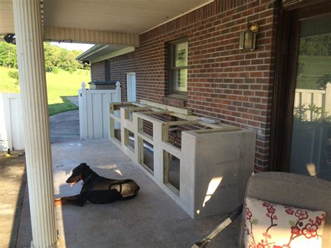 outdoor kitchen wood frame video