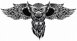 猫头鹰卡通动物纹身图案 素材公社 tooopen
