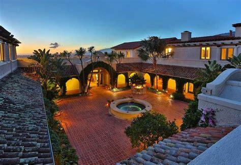 spanish home plans  courtyards decoration ideas plans  water features  brick patio