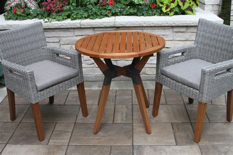 hardwood bistro table top  mixed material base
