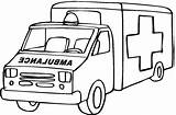 Ambulance Cartoon Cliparts Coloring Rights sketch template