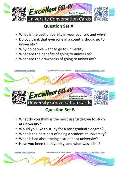 esl university conversation