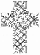 Coloring Cross Pages Easter Detailed sketch template