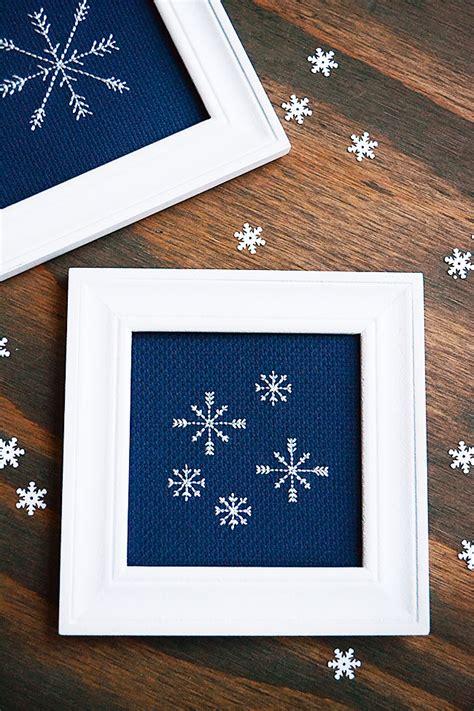 backstitch tutorial   snowflake pattern storypiece