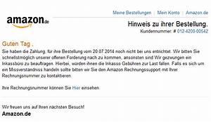Amazon Bestellung Auf Rechnung : phishing mail alerts amazon mahnung f r ihre bestellung ~ Themetempest.com Abrechnung