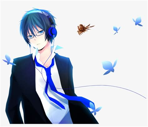 128×128 Osu Profile Pictures Anime Boy With Headphones And Hoodie Png Image Transparent Png