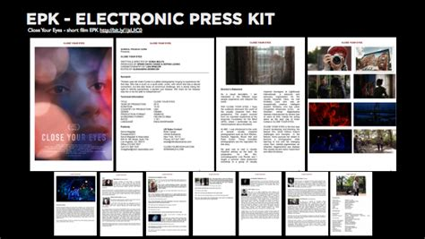 electronic press kit template epk third year