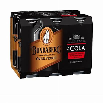 Cans Bundaberg Cola Proof Drink Ready