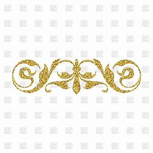 Gold glitter swirl design element Royalty Free Vector Clip ...