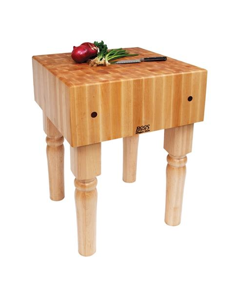 "John Boos Ab0x Series 10"" Maple Top Butcher Block Work"