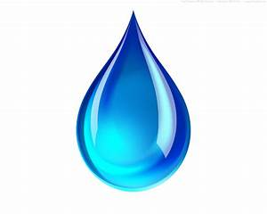 PSD blue water droplet icon | PSDGraphics