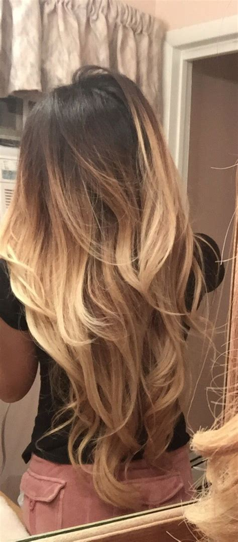 blonde ombre balayage touch  beautiful hair