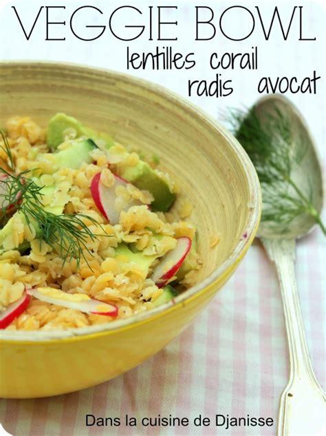 recette cuisine cor馥nne veggie bowl aux lentilles corail blogs de cuisine