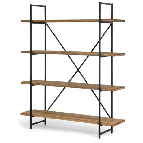 Etagere Wood by Shop Ailis Brown Wood And Metal 75 Inch 4 Shelf Etagere