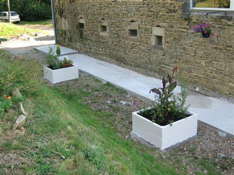 cuisine beton cellulaire finitions de la terrasse et des abords