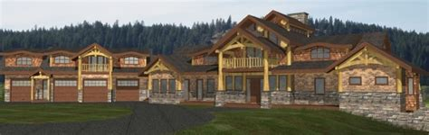 alpine log home plans sqft streamline design