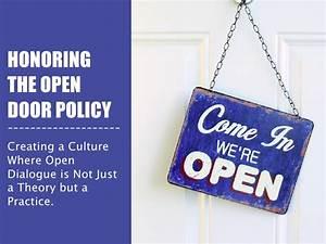 Honoring the open door policy