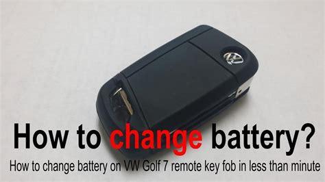 vw golf mk  volkswagen remote key fob change battery