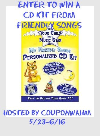 Friendly Songs Personalized Cd's Review Giveaway (ends 616