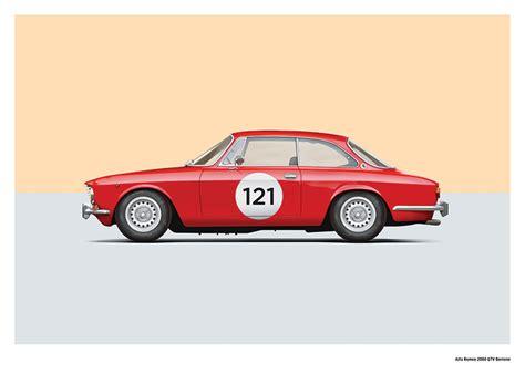 Alfa Romeo 2000 Gtv Art Print • Simply Petrol