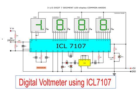 digital voltmeter circuit diagram using icl7107 7106