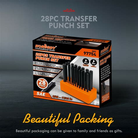 pc center transfer punches set machinists tool punch stand