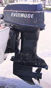 Used 90 Hp 88hp Spl Evinrude Outboard Boat Motor For Sale