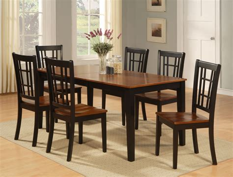 kitchen table and chairs set dinette kitchen dining room set 7pc table and 6 chairs ebay