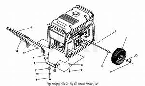 Troy Bilt 52401 6000 Watt  13hp   S  N 524010100101  U0026 Higher  Parts Diagram For Handle And Wheel