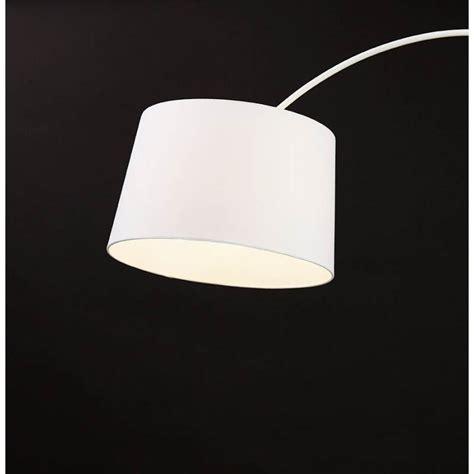 lampe sur pied design aversa tissu blanc