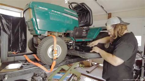 replace  deck belt   mtd riding lawn tractor