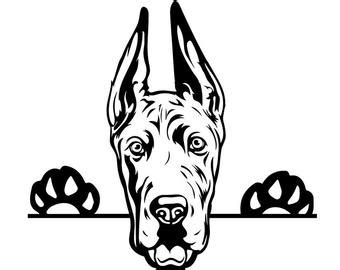 You can copy, modify, distribute and perform the work, even for commercial purposes, all without asking permission. Great dane svg   Etsy