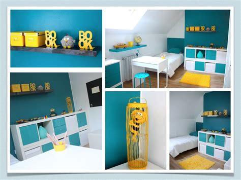 chambre bleu et jaune deco chambre garcon gris et jaune