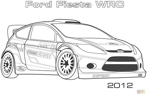 ford fiesta wrc coloring page  printable coloring pages