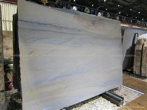 High Polished Brazilian Blue Vein Dining Table Marble
