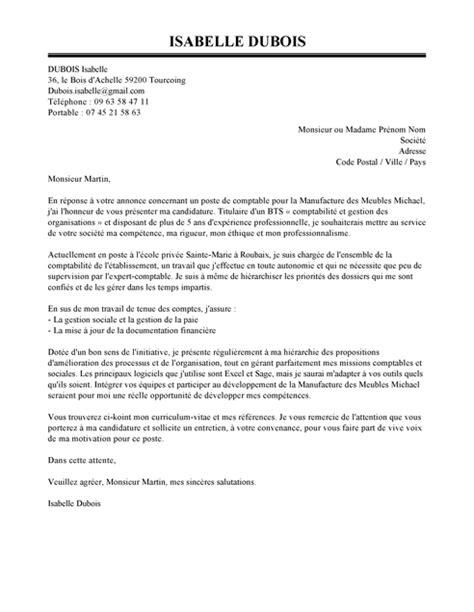 Alternance Cabinet Comptable by Exemple De Lettre De Motivation Comptable Mod 232 Le De