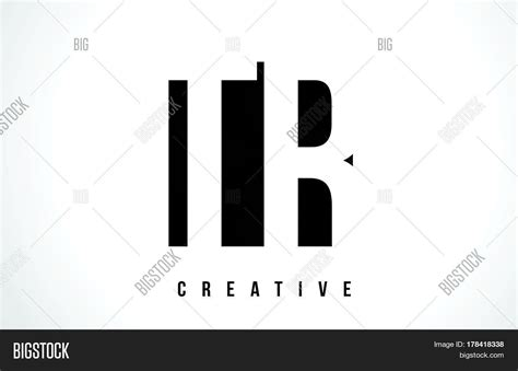 Tr T R White Letter Logo Design Vector & Photo
