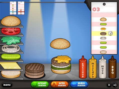 jeux cuisine papa louis jeux de cuisine les burgers de papa louis