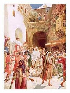 Free Bible images of Jesus riding triumphantly into ...