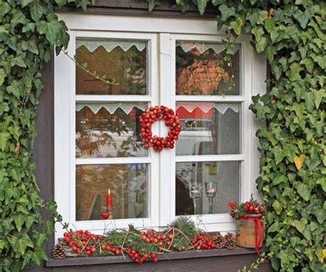 Herbstdeko Fenster Aussen by Zierapfel Wintergarten Weihnachten