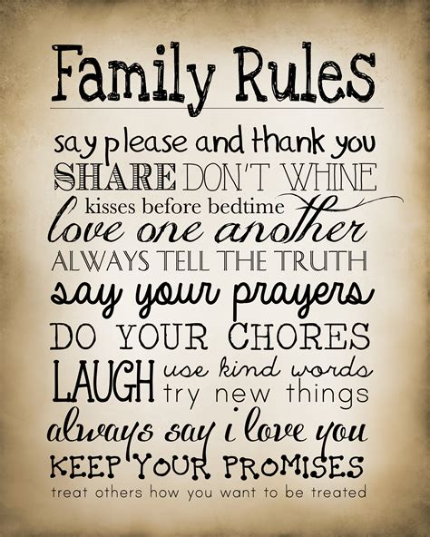 9 best images of printable household free 539 | free printable family rules sign 17248