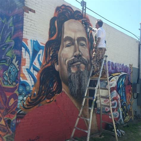 makeup artist school san antonio central artist paints large mural of 39 the dude 39 from