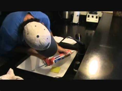 how to re caulk an undercounter sink edge