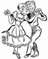 Square Dance Clip Clipart Cliparts Graphics Line Library Borders Dancer Illustration sketch template