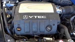 Used Engine Being Removed From A 2005 Acura Rl With 78 023 Miles