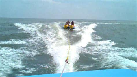 Boat R Ocean City Nj by Banana Boat Ride Point Pleasant Parasail Nj Youtube