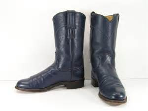 womens boots navy blue vintage cowboy boots womens 5 b m navy blue ropers justin
